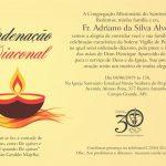 Ordenação Diaconal do Fr. Adriano será neste sábado, dia 8 de junho
