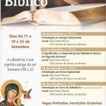 Nesta terça-feira acontece mais uma palestra sobre a Bíblia