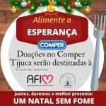 Doações de alimentos no Comper Tijuca serão destinadas ao Santuário