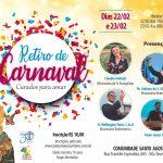 Inscrições ENCERRADAS para o Retiro de Carnaval