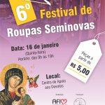 6º Festival de Roupas Seminovas será realizado nesta quinta-feira