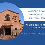 Santuário ficará aberto das 6h às 20h