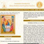 Folheto Litúrgico – Missa do III Domingo de Páscoa