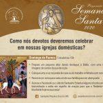 Domingo de Ramos –AO VIVO às 10h