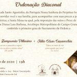 Ordenação diaconal de Villarino será na quinta-feira
