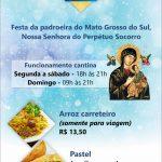 Cantina oferece pastel e arroz carreteiro durante Novenário