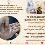 1º Dia do Novenário rezará pelos enfermos