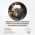 Lojinha tem máscaras de Nossa Senhora do Perpétuo Socorro
