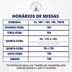 Santuário acrescenta horário de missa às 19h30 no domingo