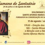 Santuário celebra Tríduo em preparação ao Dia de Santo Afonso Maria de Ligório