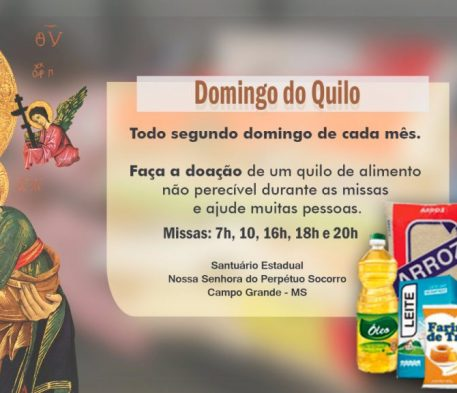 Santuário arrecada alimentos neste Domingo do Quilo