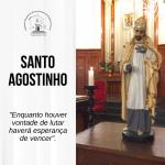Santuário celebra dia de Santo Agostinho nesta sexta