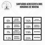 Santuário acrescenta dois horários de novena