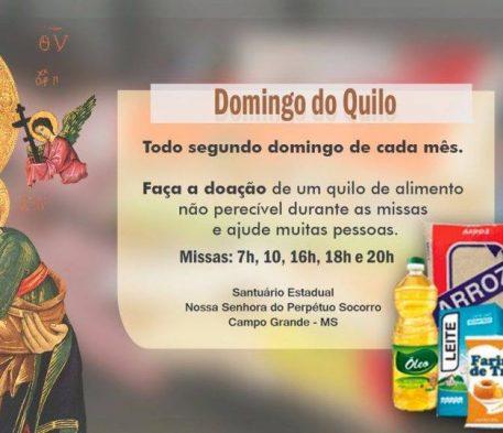 Santuário arrecada alimentos neste Domingo do Quilo