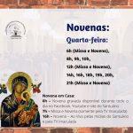 Confira os horários de Novena do Santuário:
