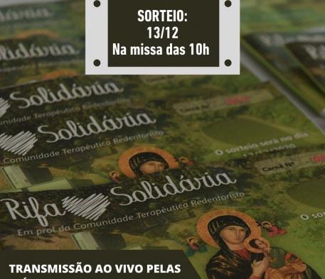 Sorteio da Rifa será AO VIVO neste domingo