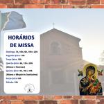 Confira os horários de Missas do Santuário: