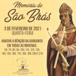 Santuário terá Bênção da Garganta durante as novenas (Dia de São Brás)