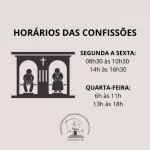 Confira os horários de atendimento às Confissões no Santuário