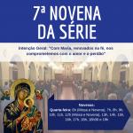 O Santuário celebra a 7ª novena da série, nesta quarta-feira (17)