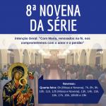 O Santuário celebra a 8ª novena da série, nesta quarta-feira (24)