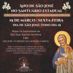 Missa em celebração ao dia de São José nesta sexta-feira, às 18h