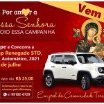 """Rifa """"Por Amor a Nossa Senhora, eu apoio essa campanha"""" sorteia Jeep Renegade"""