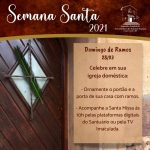 Orientações para celebrar Domingo de Ramos em casa