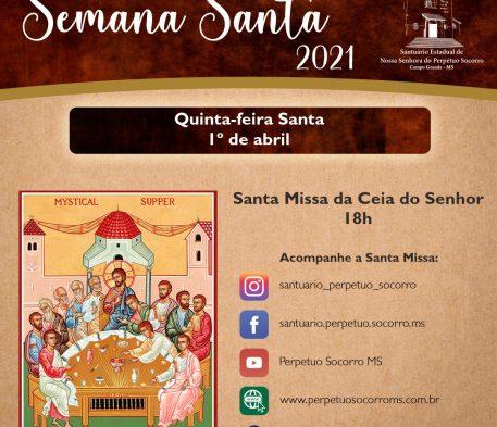 Santuário celebra Tríduo Pascal