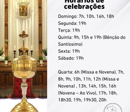 Confira os novos horários de celebrações
