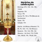 Confira como ficam os horários das celebrações no Santuário