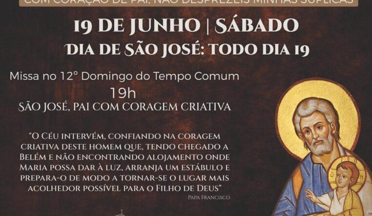 Santuário celebra missa especial do Ano de São José neste sábado, às 19h