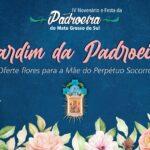 Oferte flores para a Mãe do Perpétuo Socorro, no Jardim da Padroeira