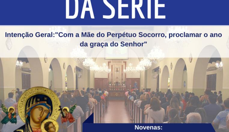 """7ª novena da série com o tema """"Com a Mãe do Perpétuo Socorro, proclamar o ano da graça do Senhor"""""""