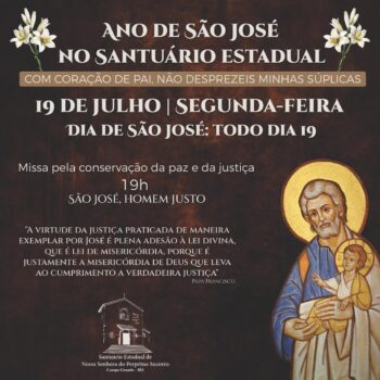 Santuário celebra missa especial do Ano de São José nesta segunda-feira