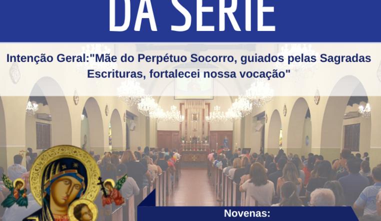"""6ª novena da série com a intenção geral """"Mãe do Perpétuo Socorro, guiados pelas Sagradas Escrituras, fortalecei nossa vocação"""""""