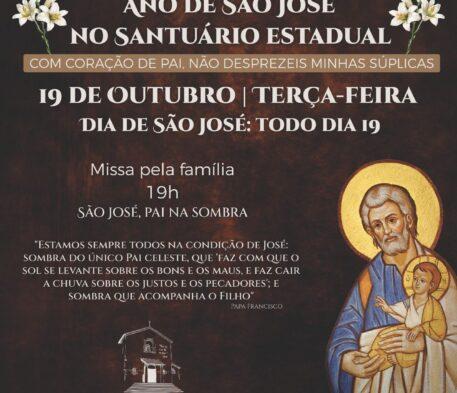 Santuário celebra missa especial do Ano de São José nesta terça